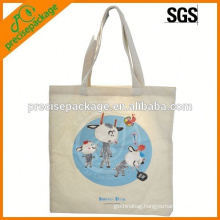 silk screen Cotton Shopping Bag With Cartoon printing