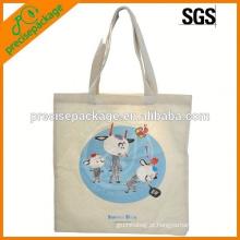saco de compras do algodão da tela de seda com impressão dos desenhos animados