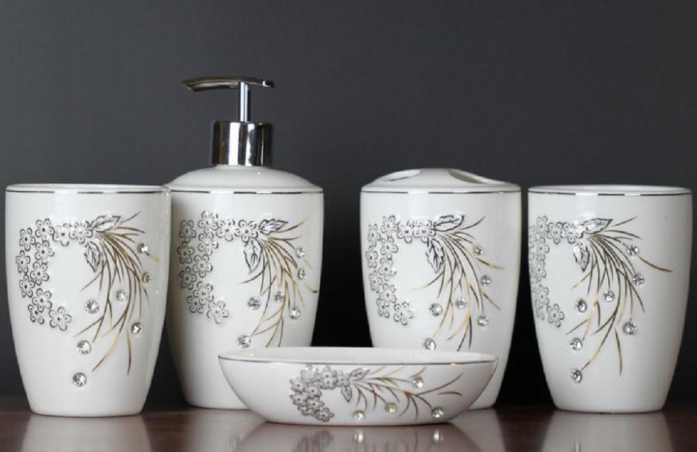 5 PC Ceramic Bath Set