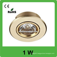 High Quality high power 1w AC 85v-265v round led ceiling light, 3 years warranty
