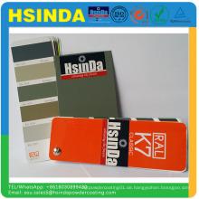 Unterschiedliche Hochglanz elektrostatische Spray Duroplast Polyester Farbe Pulverbeschichtung