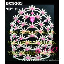 Coroa de tiara de strass de moda