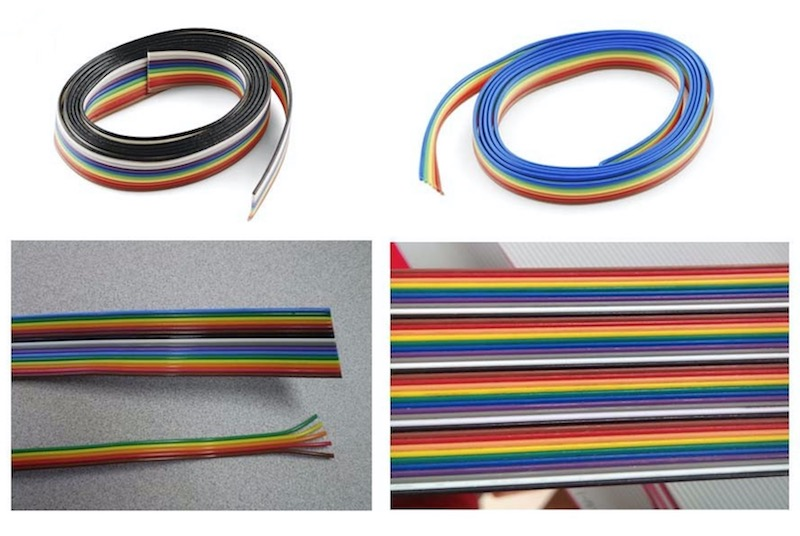 Color Coded Rainbow Flat Ribbon Cable