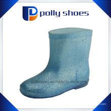 Crianças Rain Shoes PVC Transparent Rain Boots