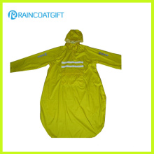 Unisex Long Sleeve Polyester PVC Raincoat (RPY-044)