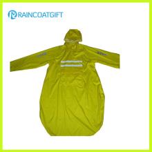 Unisex Langarm-Polyester-PVC-Regenmantel (RPY-044)