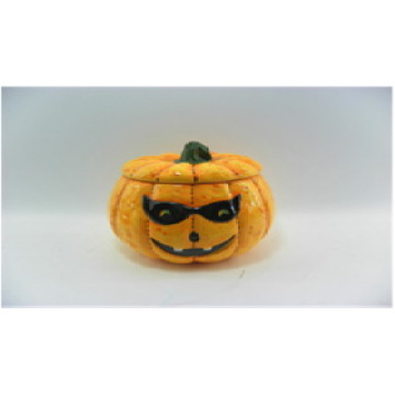 Pumpkin Ceramic Halloween Candle Holders (YC14033)