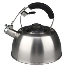 Chaleira de chá assobiando da indução do aço inoxidável