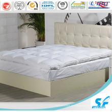 Pato blanco al por mayor / pluma de ganso relleno de colchón colchón / protector de colchón