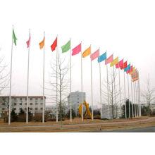 Mât en tôle d'acier inoxydable, mât de drapeau carré, drapeaux colorés