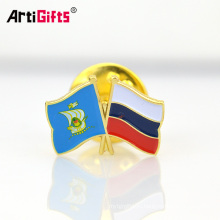 Высокое качество пользовательских высечки пораженная мягкая эмаль оптом значки pin отворотом флага