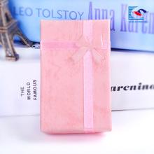 Cajas de collar de empaquetado de la joyería de caja de regalo de joyería negra barata de China al por mayor