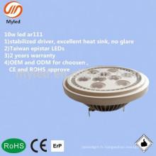 10w haute puissance gu10 g53 AC / DC12v multi angle 30/40/50/60 degré ar111 led light