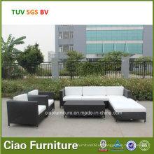 Muebles al aire libre modernos Sofá de mimbre Patio Lounge Sofá de ratán