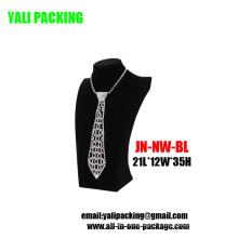 Venda por atacado de busto de colar de jóias de veludo preto (N-NW-BL)