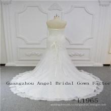 Очаровательная без бретелек кружева свадебное платье