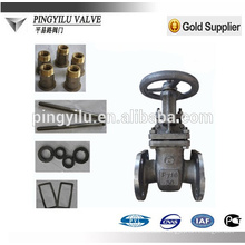 Cast steel russia standard gas rising stem gate valve dn400