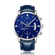 Blue Dial Design Personnaliser le logo Quartz Men Watches