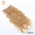 Aliexpress hot new products high quality 100% human hair extension, full head clip in hair extentions