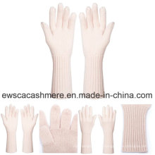 Women′s Fresh Style Pure Cashmere Gloves with Pink Color