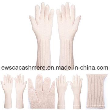 Свежие женские Стиль чистый кашемир перчатки розовый цвет