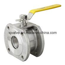 Válvula de esfera de bolacha de aço inoxidável Pn16 / 40