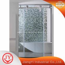 Puerta corredera de cristal para cuarto de baño con panel doble