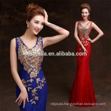 Noche azul oscuro / vestidos formales vestidos de noche de lentejuelas vestido de fiesta de noche