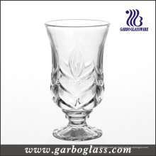 Copa de té de cristal grabado con pie (GB040606VT)