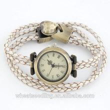 European Vogue reloj de cuarzo con banda de cuero reloj de pulsera Para diferentes persona 2014