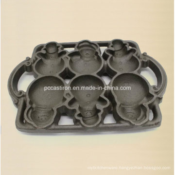 3PC Cast Iron Heat Mold for China Factory