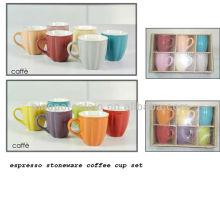 Ensemble de tasses à café grès espresso à 12 couleurs pour BS12014