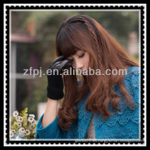 Guantes de punto de lana de señora guantes de cuero largo guante
