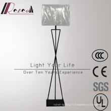 Lampe de plancher en acier blanche décorative d'hôtel de tissu d'hôtel moderne de LED