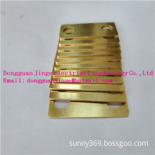 Yellow copper bar electrical