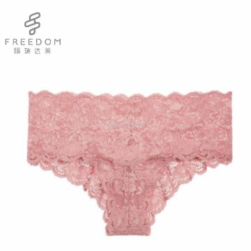 FDBL7111405 Vente chaude de haute qualité dentelle florale effronté truza filles transparentes culottes fantaisie sexy culotte photos