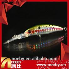 2015 NOEBY жесткая приманка длинный наконечник minnow приманка с совершенным действием