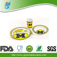 OEM New High Quality PP Personalized 5PCS per SET Children Dinnerware Sets In Mold Lable Dinnerware