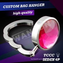 Dia 45 milímetros de cristal rosa saco titular gancho