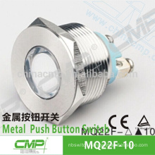 CMP stainless steel waterproof IP67 metal 22mm electrical panel led indicator light