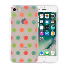 Híbrido IMD Colorful Dots iPhone8 Plus carcasa del teléfono