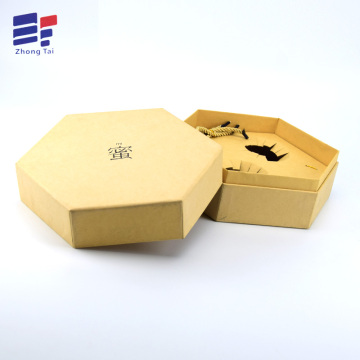Europe style for Electronics Set Bottom Paper Box Kraft paper hexagonal gift box supply to Portugal Importers
