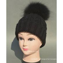 Boné de Inverno Elegante e Chapéu de Malha Adulto