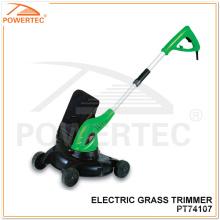 Aparador de grama elétrico Powertec 710W com carrinho (PT74107)