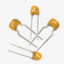 Condensador de cerámica de múltiples capas radial amarillo de la venta 2015