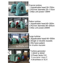 Hydro/Water Power Plant Turbine Generator Set
