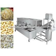 De alta calidad de brote de frijol automático de lavado de la máquina / brote de soja pelado máquina / frijol de germinación de limpieza de la máquina