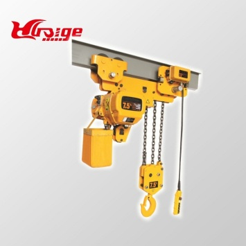 7.5 ton 6M electric chain hoists with hook