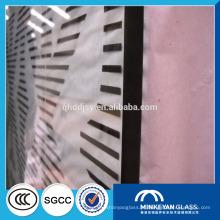 12 mm 14 mm 16 mm 19 mm decorativo silkscreen vidro temperado de impressão para porta