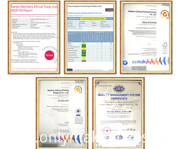 Cailang Certifications